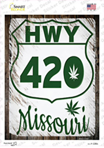HWY 420 Missouri Wholesale Novelty Rectangle Sticker Decal