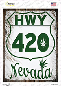 HWY 420 Nevada Wholesale Novelty Rectangle Sticker Decal