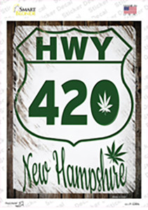 HWY 420 New Hampshire Wholesale Novelty Rectangle Sticker Decal