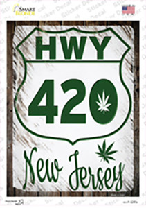 HWY 420 New Jersey Wholesale Novelty Rectangle Sticker Decal