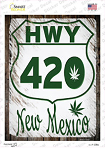 HWY 420 New Mexico Wholesale Novelty Rectangle Sticker Decal