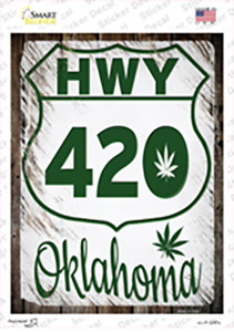 HWY 420 Oklahoma Wholesale Novelty Rectangle Sticker Decal