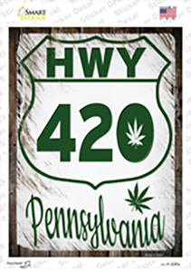 HWY 420 Pennsylvania Wholesale Novelty Rectangle Sticker Decal