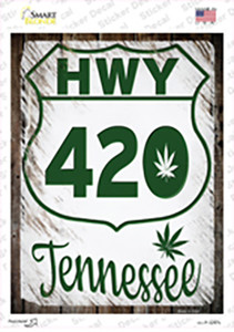 HWY 420 Tennessee Wholesale Novelty Rectangle Sticker Decal
