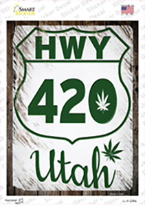 HWY 420 Utah Wholesale Novelty Rectangle Sticker Decal
