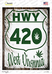 HWY 420 West Virginia Wholesale Novelty Rectangle Sticker Decal