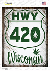 HWY 420 Wisconsin Wholesale Novelty Rectangle Sticker Decal