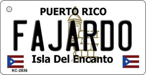 Fajardo Puerto Rico Flag Wholesale Novelty Key Chain
