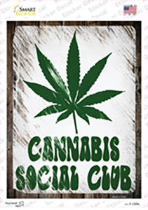 Cannabis Social Club Wholesale Novelty Rectangle Sticker Decal