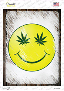 High Smiley Wholesale Novelty Rectangle Sticker Decal
