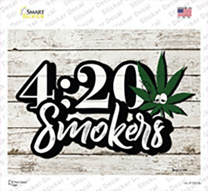 420 Smokers Wholesale Novelty Rectangle Sticker Decal