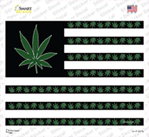 American Flag Weed Wholesale Novelty Rectangle Sticker Decal