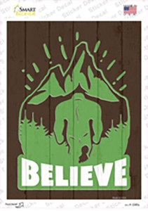 Believe In Bigfoot Wholesale Novelty Rectangle Sticker Decal