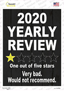 2020 Yearly Review Wholesale Novelty Rectangle Sticker Decal