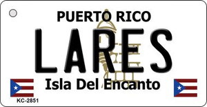 Lares Puerto Rico Flag Wholesale Novelty Key Chain
