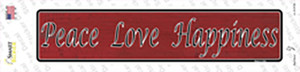 Peace Love Happiness Wholesale Novelty Narrow Sticker Decal