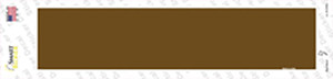 Brown Solid Blank Wholesale Novelty Narrow Sticker Decal