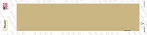 Gold Solid Blank Wholesale Novelty Narrow Sticker Decal