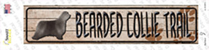 Bearded Collie Trail Wholesale Novelty Narrow Sticker Decal