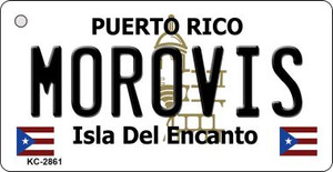 Morovis Puerto Rico Flag Wholesale Novelty Key Chain