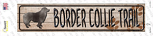 Border Collie Trail Wholesale Novelty Narrow Sticker Decal