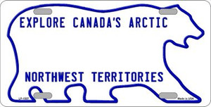 Northwest Territories Novelty Background Wholesale Metal License Plate LP-1507