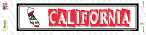 California Outline Wholesale Novelty Narrow Sticker Decal