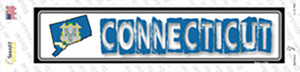 Connecticut Outline Wholesale Novelty Narrow Sticker Decal