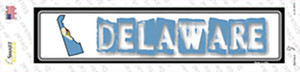 Delaware Outline Wholesale Novelty Narrow Sticker Decal