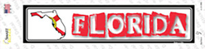 Florida Outline Wholesale Novelty Narrow Sticker Decal