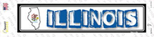 Illinois Outline Wholesale Novelty Narrow Sticker Decal