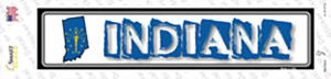 Indiana Outline Wholesale Novelty Narrow Sticker Decal