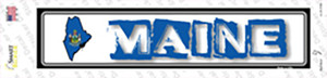 Maine Outline Wholesale Novelty Narrow Sticker Decal
