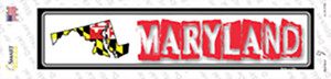 Maryland Outline Wholesale Novelty Narrow Sticker Decal
