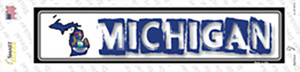 Michigan Outline Wholesale Novelty Narrow Sticker Decal