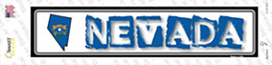 Nevada Outline Wholesale Novelty Narrow Sticker Decal