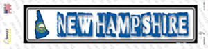 New Hampshire Outline Wholesale Novelty Narrow Sticker Decal