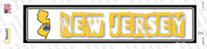 New Jersey Outline Wholesale Novelty Narrow Sticker Decal