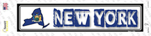 New York Outline Wholesale Novelty Narrow Sticker Decal