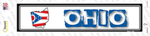 Ohio Outline Wholesale Novelty Narrow Sticker Decal