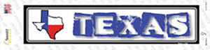 Texas Outline Wholesale Novelty Narrow Sticker Decal