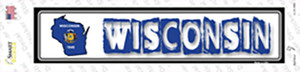 Wisconsin Outline Wholesale Novelty Narrow Sticker Decal