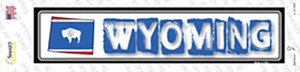Wyoming Outline Wholesale Novelty Narrow Sticker Decal