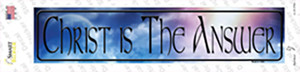 Christ Is The Answer Wholesale Novelty Narrow Sticker Decal