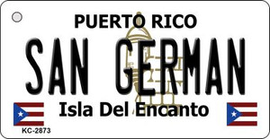 San German Puerto Rico Flag Wholesale Novelty Key Chain