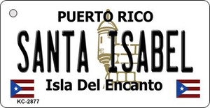 Santa Isabel Puerto Rico Flag Wholesale Novelty Key Chain