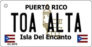 Toa Alta Puerto Rico Flag Wholesale Novelty Key Chain