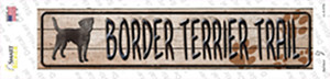 Border Terrier Trail Wholesale Novelty Narrow Sticker Decal