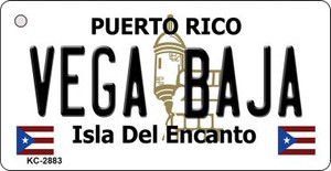 Vega Baja Puerto Rico Flag Wholesale Novelty Key Chain