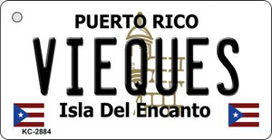 Vieques Puerto Rico Flag Wholesale Novelty Key Chain